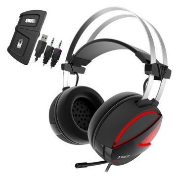 Gamdias HEBE E1 Gaming Headset with Mic, 7.1 Sound, RGB Lighting